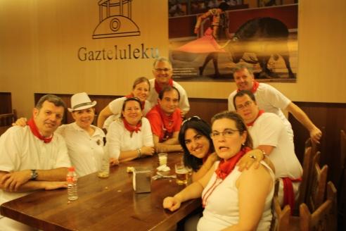 Tuvimos la gran fortuna de ser invitados al Gazteluleku en donde nuestros anfitriones nos mostraron lo delicioso que se come en Navarra.