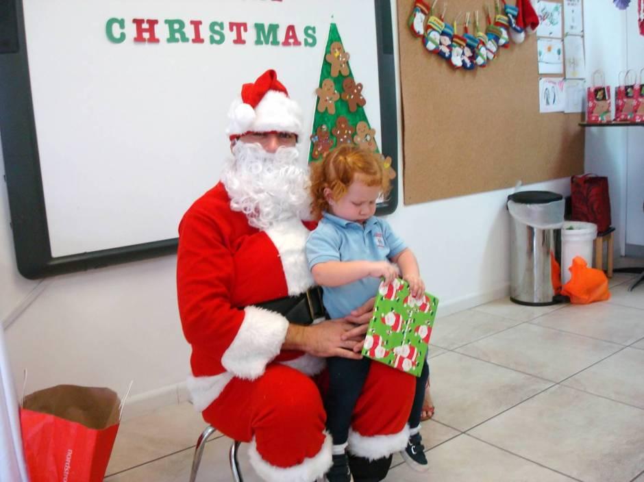 Cristina con Santa