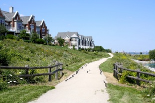 Una mañana salimos a pasear a la orilla del lago en St. Frances, que es donde viven Ellen y Bruce.