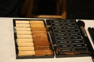 La paleta de color para base y correctores que utilizaron los maquillistas.
