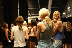 Las modelos listas para el ensayo.