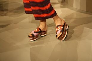 Estas sandalias recuerdan el calzado que llevan las geishas.