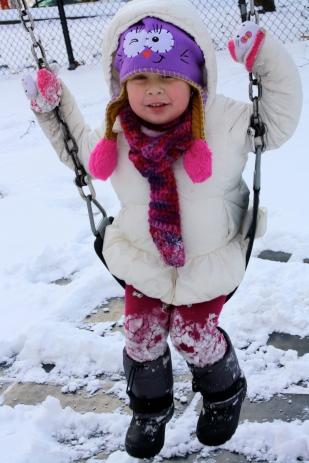 ¡Llena de nieve!