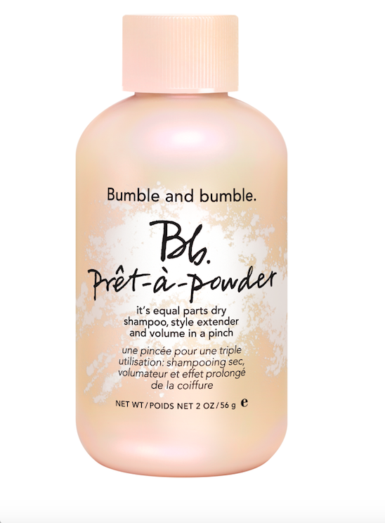 BUMBLE AND BUMBLE prêt-à-powder with a limited-edition pink cap
