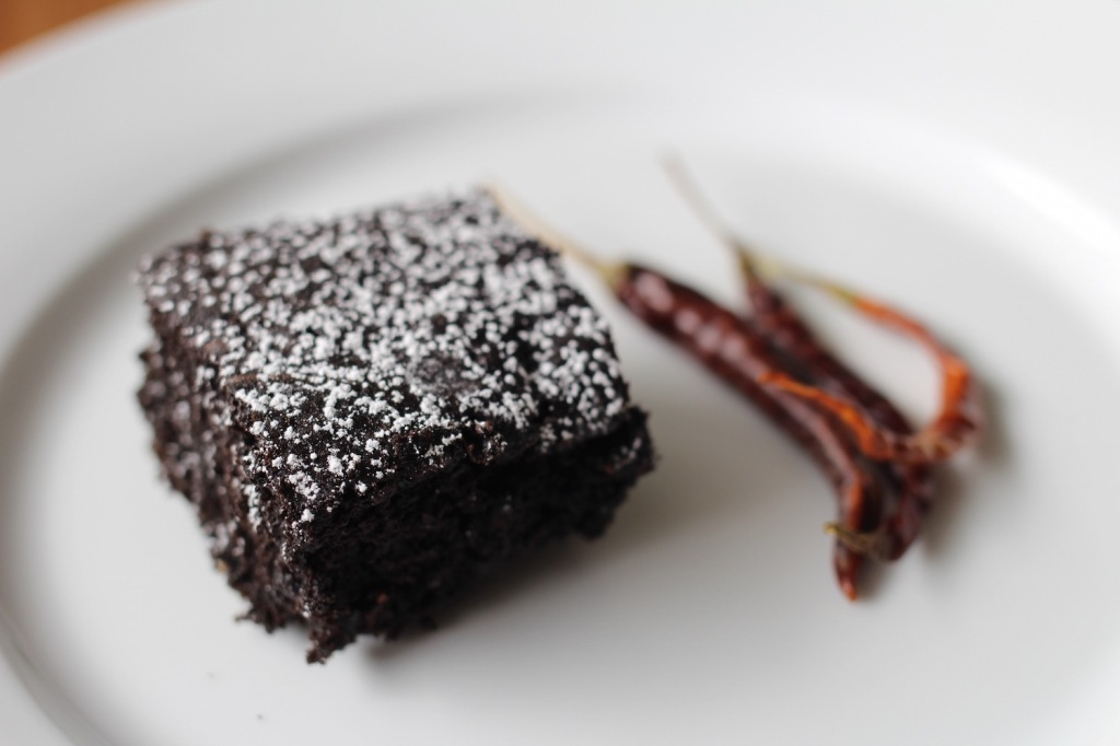 Brownies de chile de árbol